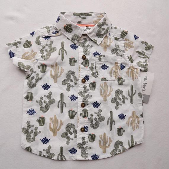 【carter's】 サボテン総柄プリントシャツ