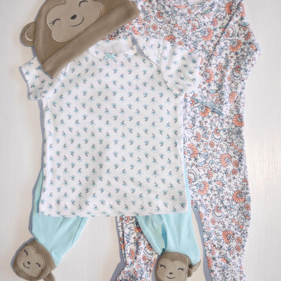 【Carter's】  monkey girl 4set