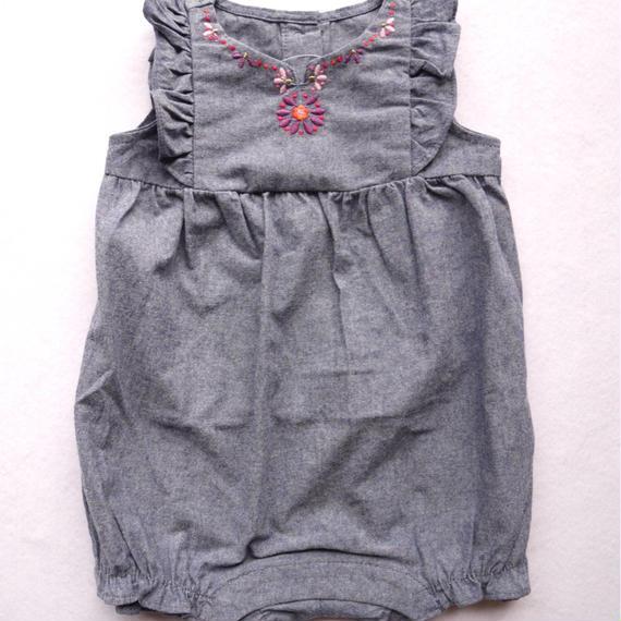 【GYMBOREE】 フラワー刺繍 カバーオール