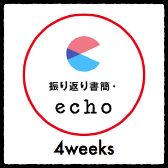 振り返り書簡・echo(1ヶ月)