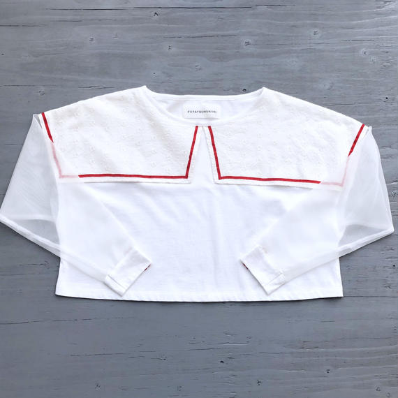 夏に着る長袖Tシャツ / WHITE