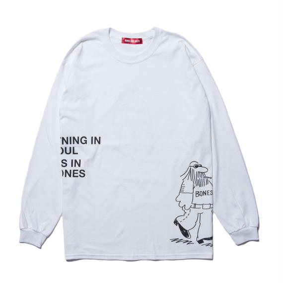 L/S TEE (COMING AND GOING) WHITE