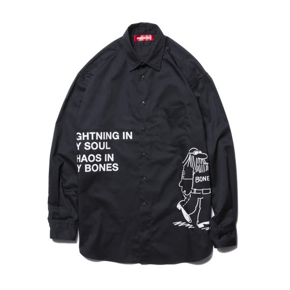 O.D. L/S SHIRT (COMING AND GOING) BLACK