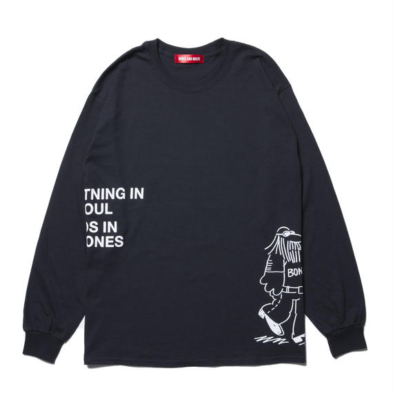 L/S TEE (COMING AND GOING) BLACK