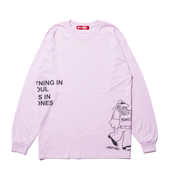 L/S TEE (COMING AND GOING) PINK