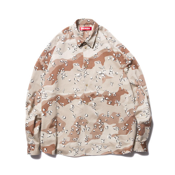 O.S. L/S SHIRT (CAMOUFLAGE) CHOCOLATE CHIP