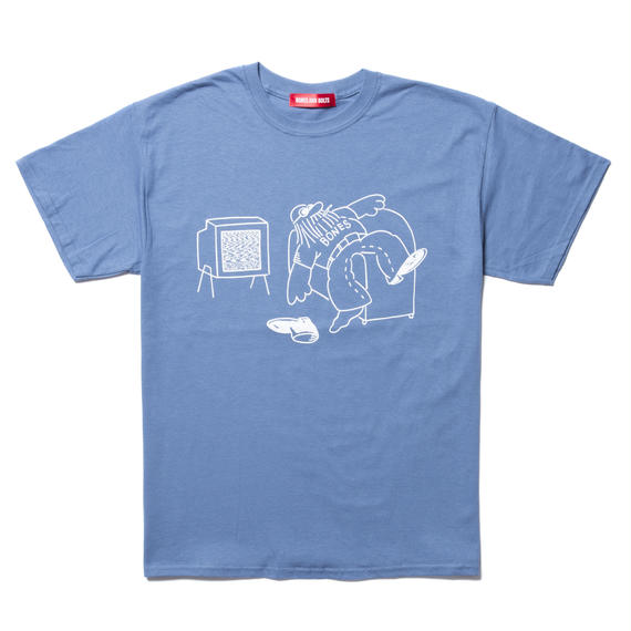 TEE (DOWN NOT OUT) INDIGO BLUE