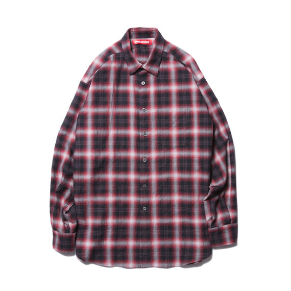 O.D. L/S SHIRT (OMBRE CHECK) RED
