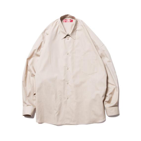 O.S. L/S SHIRT (BROAD CLOTH) BEIGE