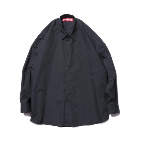 O.S. L/S SHIRT (BROAD CLOTH) BLACK