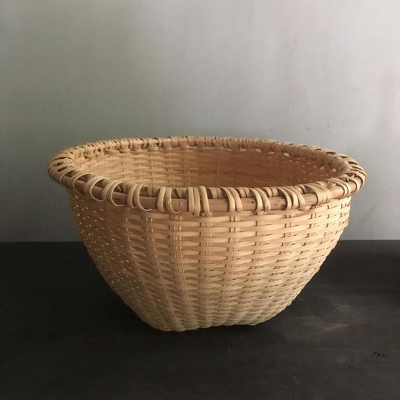 【一点のみ、新品】奥会津の美しい手編みのザル