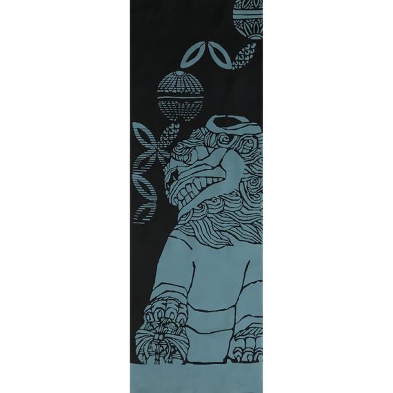 注染手ぬぐい「狛犬 吽 2018」小倉染色図案工房