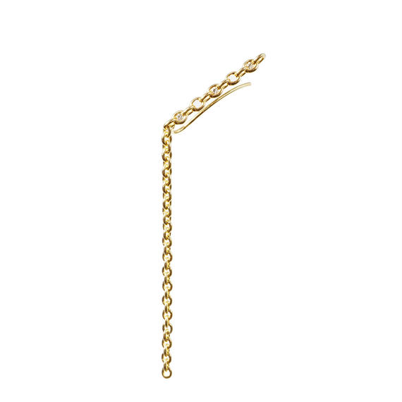THE SETTING pierce straight with swing chain / 3 diamonds