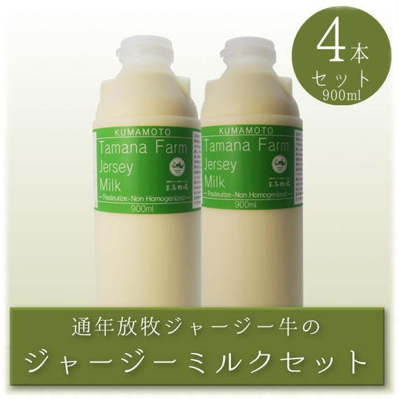 ジャージーミルク 900ml 4本セット