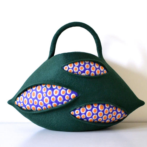 coral bag♪green