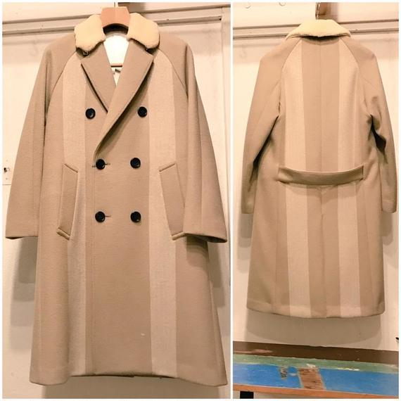 Y.O.N   Mouton collar cashmere Melton Coat