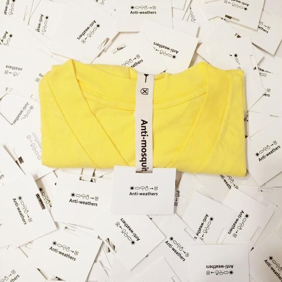 【Anti-weathers】    Anti-mosquite Tee    Vネック yellow