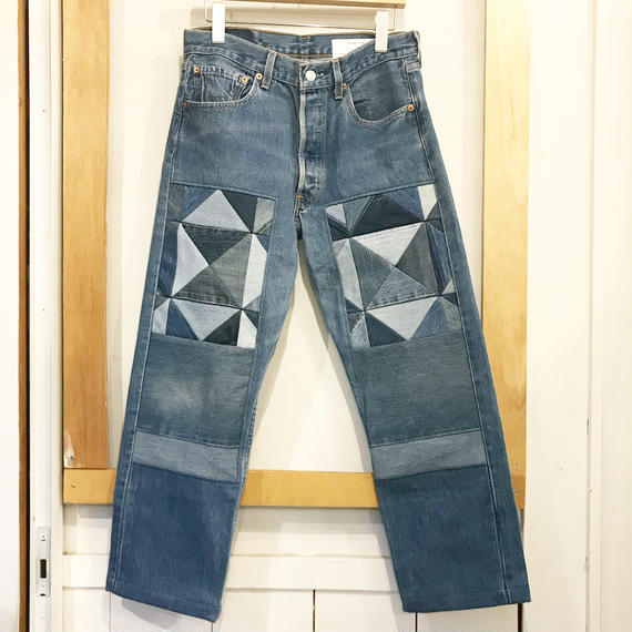 children of the discordance     OLD PATCH DENIM SIZE 1