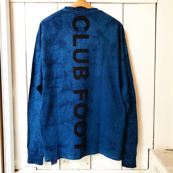 Champion 別注 本藍染 CLUB FOOT L/S TEE かご絞りver.