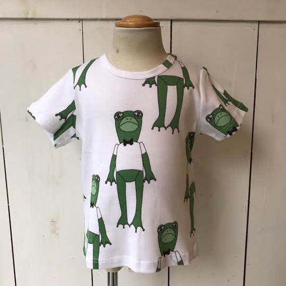 【mini rodini】 Frogs GREEN Tシャツ