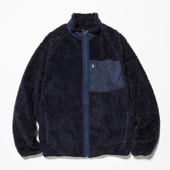 meanswhile    Behavior Fleece Jacket   NAVY