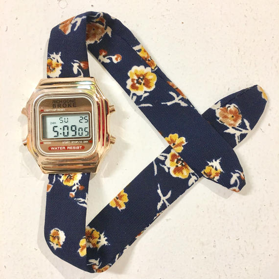 Rich Gone Broke ( gold digital Case- navy fro Liberty Strap)