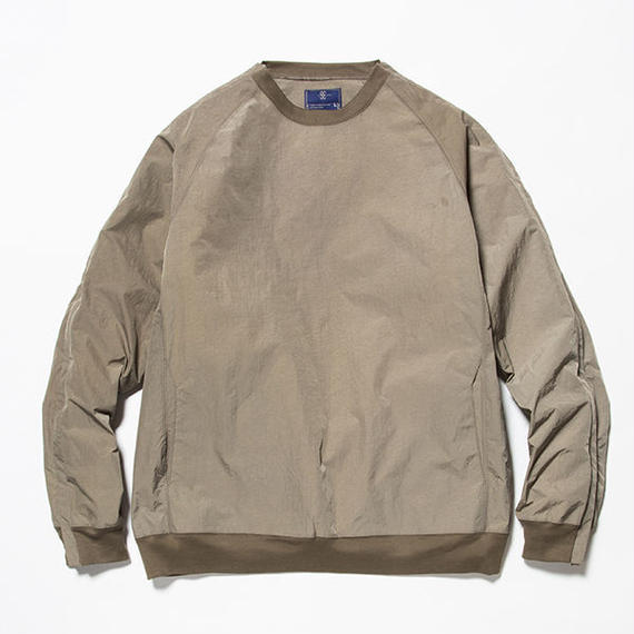 meanswhile Nylon Popper Shirt  OLIVE