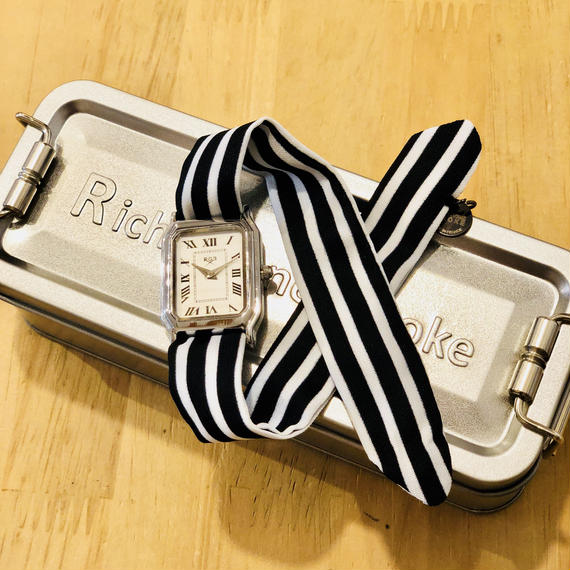 Rich Gone Broke ( Silver S4 Case- BK Stripe Liberty Strap)