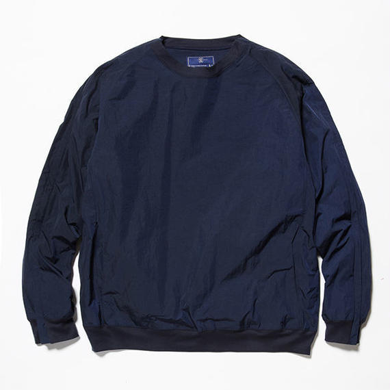 meanswhile   Nylon Popper Shirt   NAVY