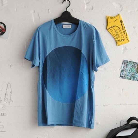 ★ CORRELL CORRELL (コレルコレル) / GRADIENT CIRCLE T SHIRTS  (CF BLUE/SIZE / L) ★