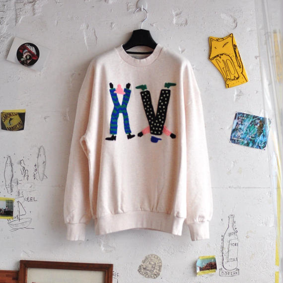 ★ 18AW NEW ! / HENRIK VIBSKOV - HV CHARACTERS SWEAT (WHITE) ★