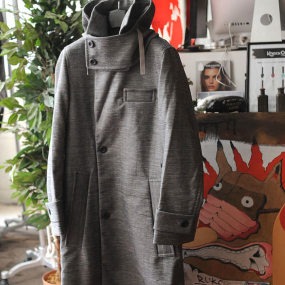 ★ 16AW / ohta (オータ) GREY COAT With HOOD ★