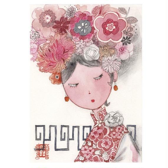 ポストカード《 Chinese Princessシリーズ1》3枚1組