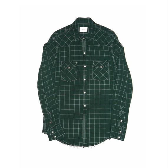 Rayon Check Western Shirt.