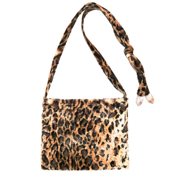 Leopard Fur Strap Bag.