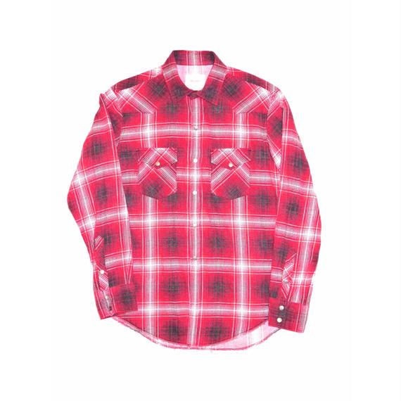 Flannel Check Western Shirt.