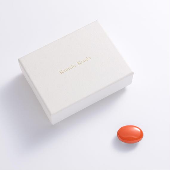 帯留 kenichi kondo オレンジ