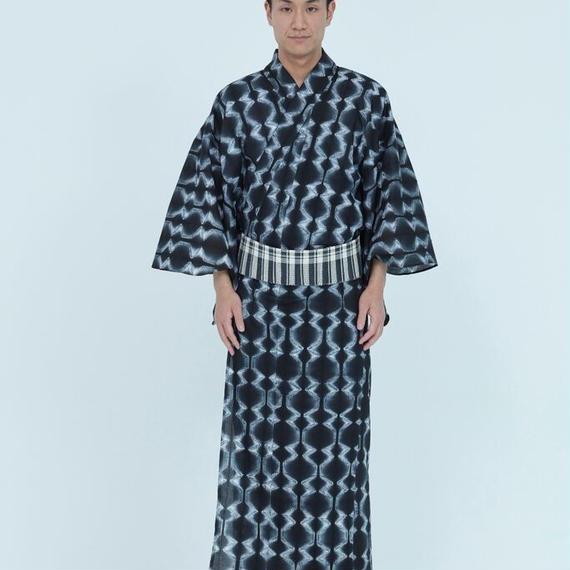 立枠縫い柄/ブラック