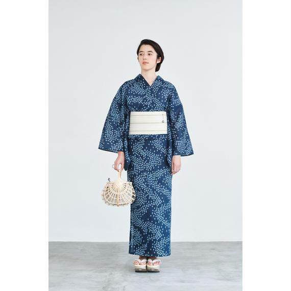 ゆかた 伊勢型/千鳥/ネイビー