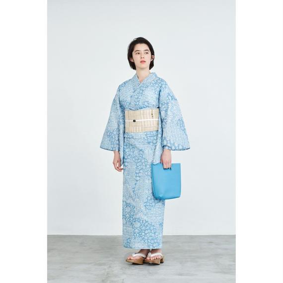 ゆかた 伊勢型/正倉院/ブルー