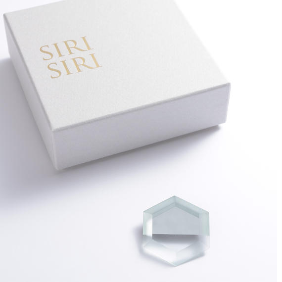SIRISIRI  MIRROR Brooch HEXAGON