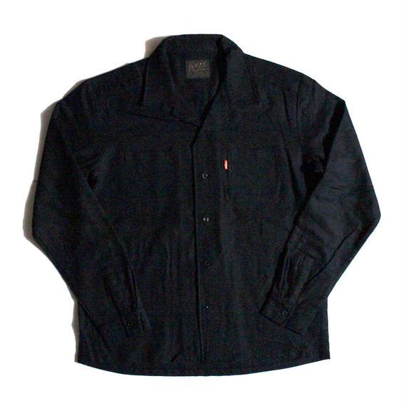 """""""PIS"""" (ウールシャツ/ブラック) #EXC-7SH04"""