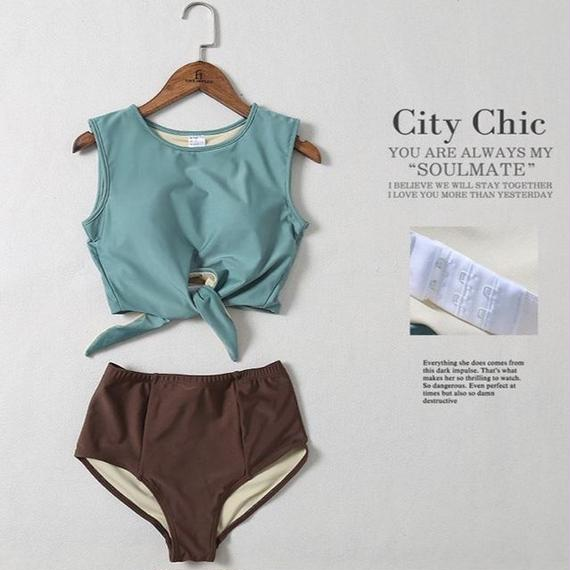 TB-122 Separate Deep Collar City Chic Bikini