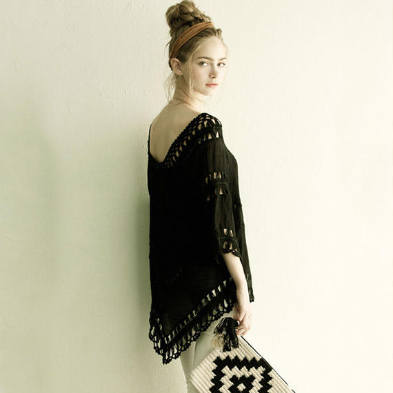 TA-005 Black lace Sundress