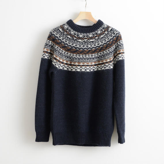 ALLEGE HOME / Back nordic knit