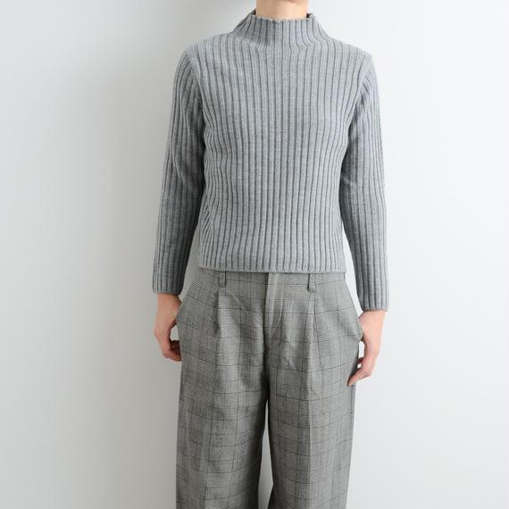 ALLEGE FEMME / Rib bottleneck knit