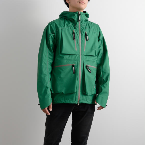 and wander / Dropping pocket rain jacket