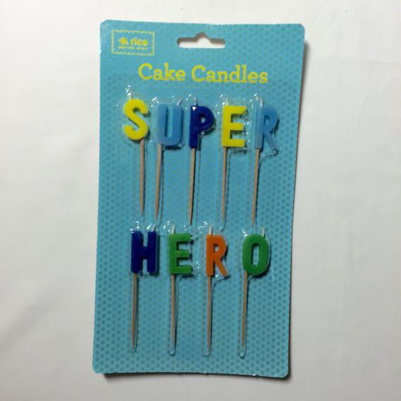 Super hero ケーキキャンドル