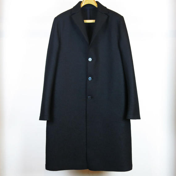 HARRIS WHARF LONDON / MEN OVER COAT PRESSED WOOL