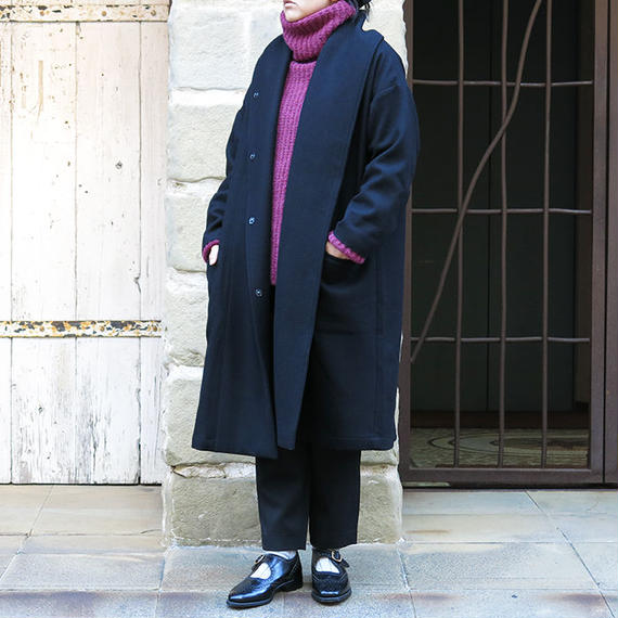 Honnete Shawl Collar Wide Coat